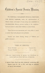 Advert for the Children's Special Service Mission